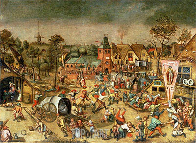 The Kermesse of the Feast of St. George, undated | Bruegel the Elder | Painting Reproduction