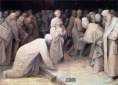 Christ and the Woman taken in Adultery, 1565 | Bruegel the Elder | Gemälde Reproduktion