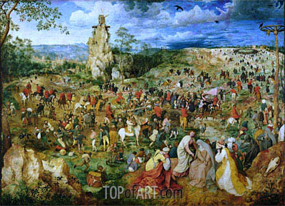 The Procession to Calvary, 1564 | Bruegel the Elder | Painting Reproduction