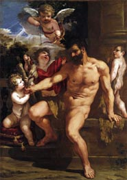 The Punishment of Hercules, 1635 von Pietro da Cortona | Gemälde-Reproduktion