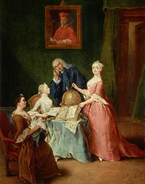 The Geography Lesson | Pietro Longhi | Painting Reproduction