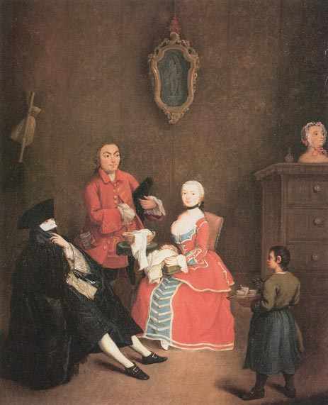The Masked Visit, 1760 | Pietro Longhi | Painting Reproduction