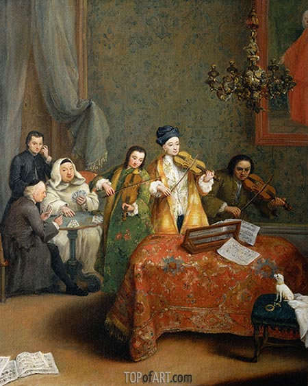 The Concert, 1741 | Pietro Longhi | Painting Reproduction