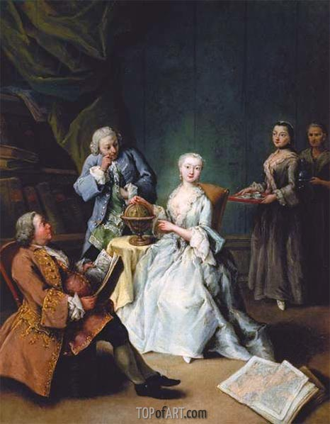Geography Lesson, 1752 | Pietro Longhi | Painting Reproduction