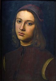 Portrait of a Young Man, 1495 by Perugino | Painting Reproduction