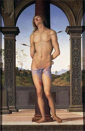 St. Sebastian, Undated by Perugino | Painting Reproduction