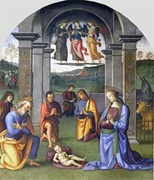 The Adoration of the Shepherds, c.1496/00 by Perugino | Painting Reproduction