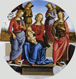 Madonna and Child with St. Rose and Catherine of Alexandra | Perugino | Painting Reproduction
