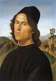 Portrait of Lorenzo di Credi, 1488 by Perugino | Painting Reproduction