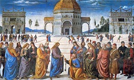 Delivery of the Keys to Saint Peter | Perugino | Gemälde Reproduktion