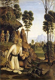 Saint Jerome in the Wilderness | Perugino | Painting Reproduction