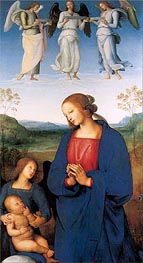 The Virgin and Child with an Angel (Certosa Altarpiece) | Perugino | Gemälde Reproduktion