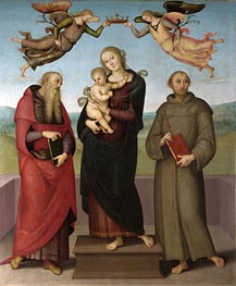 The Virgin and Child with Saints Jerome and Francis, c.1507/15 by Perugino | Painting Reproduction