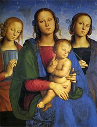 Madonna and Child with St. Catherine and St. Rosa | Perugino | Gemälde Reproduktion