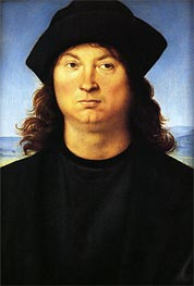 Portrait of a Man, c.1480/85 by Perugino | Painting Reproduction