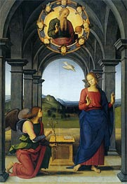 Annunciation, c.1489 by Perugino | Painting Reproduction
