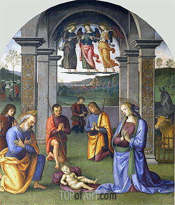 The Adoration of the Shepherds, c.1496/00 | Perugino | Painting Reproduction