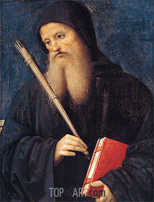 St. Benedict, Undated | Perugino | Painting Reproduction