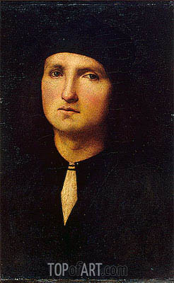 Portrait of a Young Man, c.1500 | Perugino | Gemälde Reproduktion