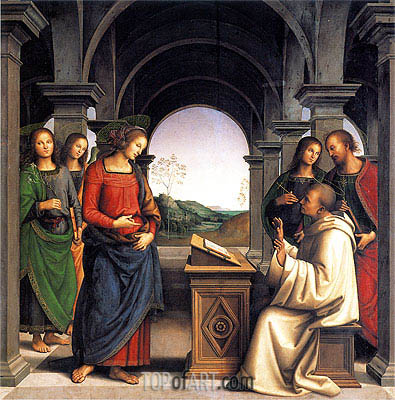 Vision of Saint Bernard, c.1489/93 | Perugino | Painting Reproduction