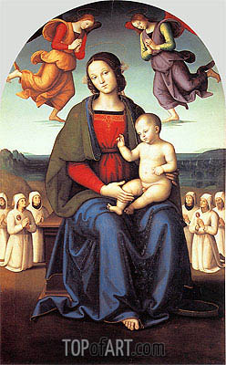 Madonna of the Confraternity of the Consolazione, c.1496/98 | Perugino | Gemälde Reproduktion
