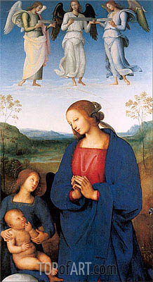 The Virgin and Child with an Angel (Certosa Altarpiece), c.1496/00 | Perugino | Gemälde Reproduktion