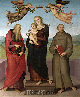 The Virgin and Child with Saints Jerome and Francis, c.1507/15 | Perugino | Gemälde Reproduktion