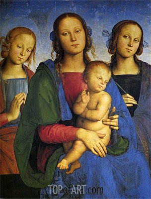 Madonna and Child with St. Catherine and St. Rosa, 1493 | Perugino | Gemälde Reproduktion