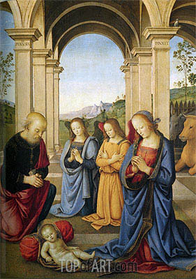 Christ's Birth, 1491 | Perugino | Gemälde Reproduktion