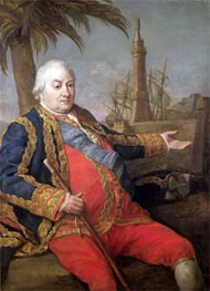 Pierre de Suffren-Saint-Tropez, Vice Admiral of France | Pompeo Batoni | Painting Reproduction