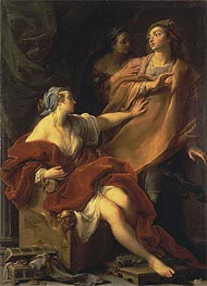 Allegory of Voluptuousness, 1747 von Pompeo Batoni | Gemälde-Reproduktion
