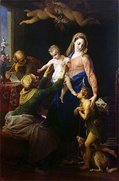 Holy Family with Sts Elizabeth and John the Baptist | Pompeo Batoni | Painting Reproduction