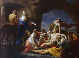 Thetis Takes Achilles from the Centaur Chiron, 1770 by Pompeo Batoni | Painting Reproduction