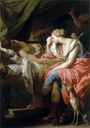 The Death of Meleager, c.1740/43 von Pompeo Batoni | Gemälde-Reproduktion