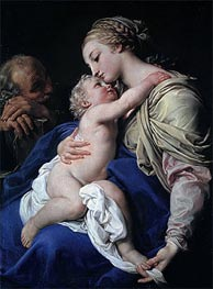 The Holy Family, Undated by Pompeo Batoni | Painting Reproduction