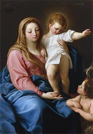 The Madonna and Child with the Infant Saint John the Baptist, Undated von Pompeo Batoni | Gemälde-Reproduktion