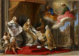 Pope Benedict XIV Presenting the Encyclical