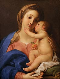 Madonna and Child, c.1742 by Pompeo Batoni | Painting Reproduction