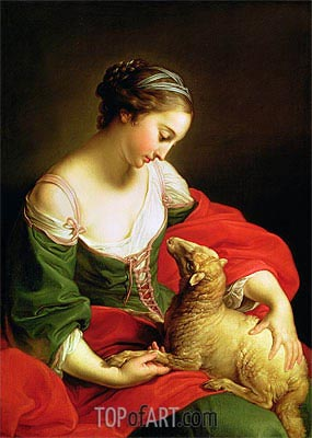 Meekness (Love), Undated | Pompeo Batoni | Painting Reproduction