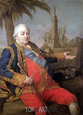 Pierre de Suffren-Saint-Tropez, Vice Admiral of France, Undated | Pompeo Batoni | Painting Reproduction