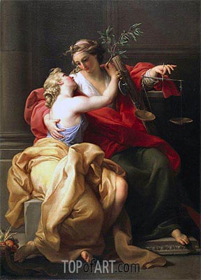 Peace and Justice, c.1745   Pompeo Batoni   Painting Reproduction
