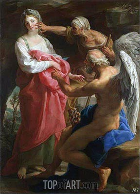 Time Orders Old Age to Destroy Beauty, 1746 | Pompeo Batoni | Painting Reproduction