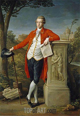 Francis Basset, I Baron of Dunstanville, 1778 | Pompeo Batoni | Painting Reproduction