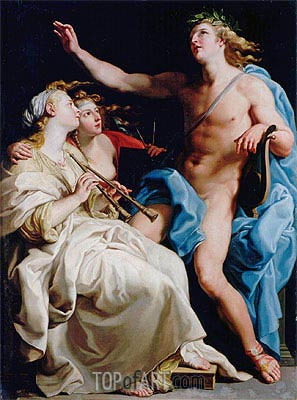 Apollo and Two Muses, c.1741  | Pompeo Batoni | Painting Reproduction
