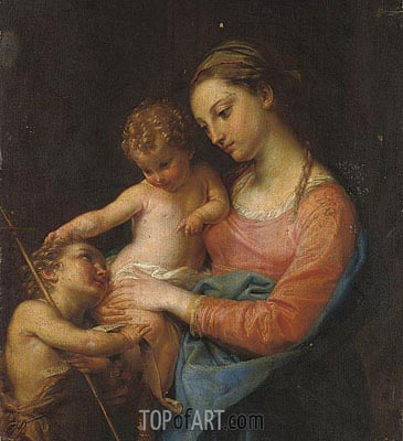 The Madonna and Child with the Infant Saint John the Baptist, Undated | Pompeo Batoni | Painting Reproduction