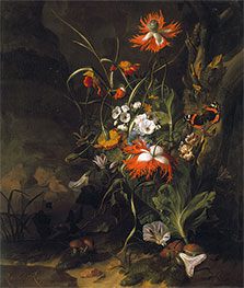 A 'Forest Floor' Still Life of Flowers | Rachel Ruysch | Painting Reproduction