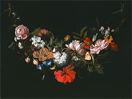Garland of Flowers | Rachel Ruysch | Painting Reproduction