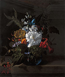 Still Life with Devil's Trumpet and Cactus | Rachel Ruysch | Painting Reproduction