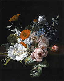 Still Life of Flowers with a Nosegay of Roses | Rachel Ruysch | Painting Reproduction