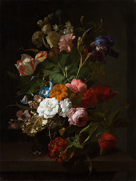 Vase with Flowers, 1700 | Rachel Ruysch | Painting Reproduction